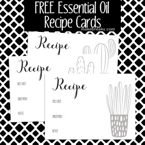 Free Essential Oils Recipe Cards – Blank Oil Cards
