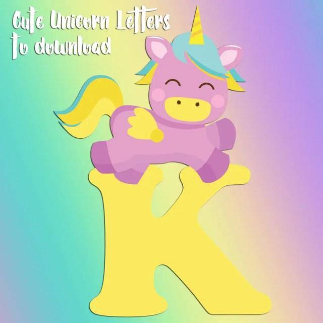 Free printable unicorn letters to print