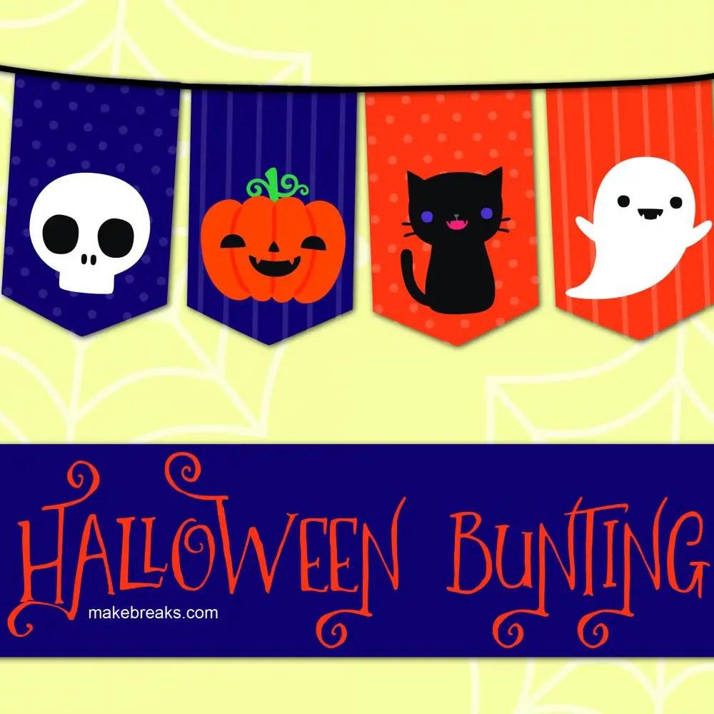 Free Halloween Bunting Template