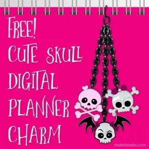 Free Halloween Digital Planner Charm