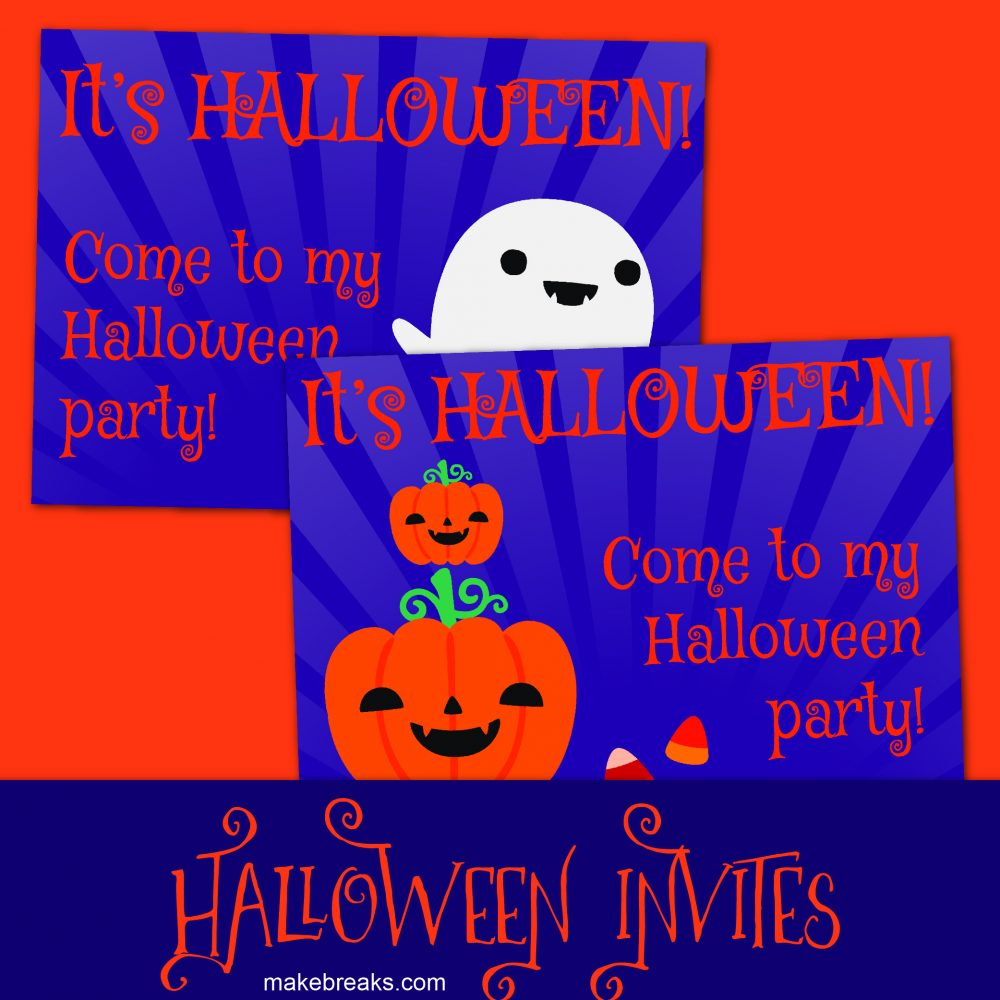 Free halloween invites to print