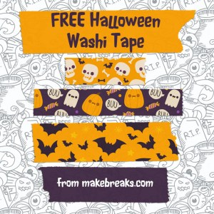 Halloween Digital Washi Tape for Digital Planners
