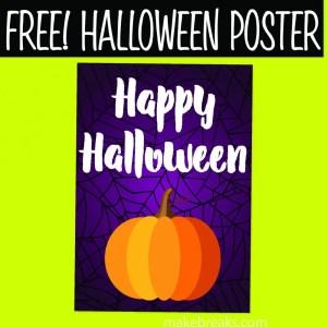 Free Happy Halloween Printable Poster