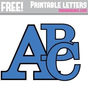Blue With Black Edge Free Printable Alphabet