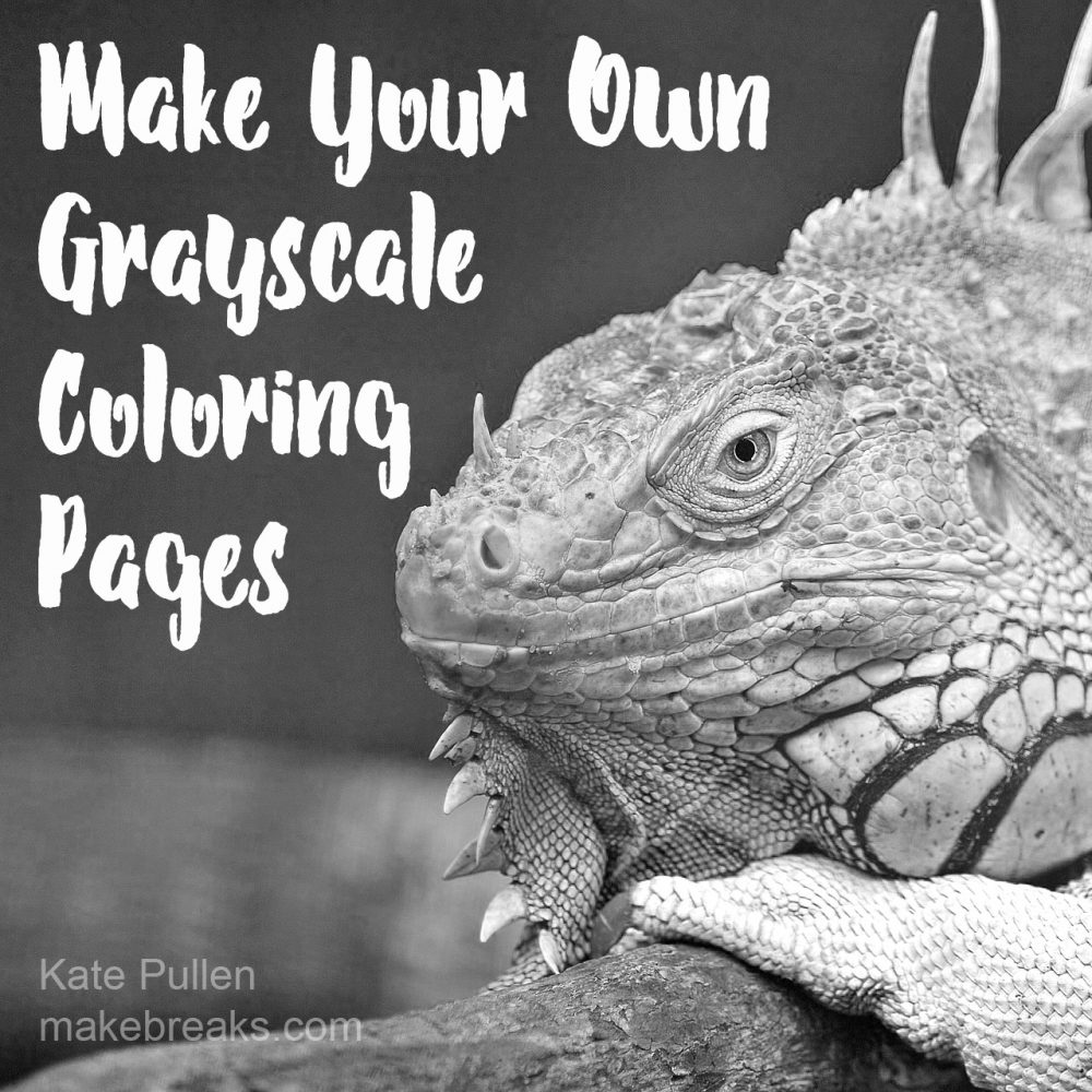 Learn how to make your own free grayscale coloring pages