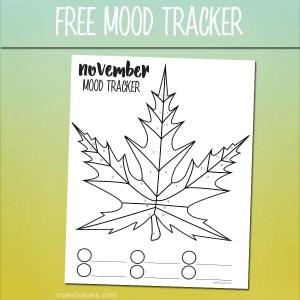 Free November Mood Tracker Tracking Page – Leaf