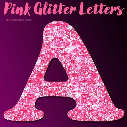 Free Printable Pink Glitter Letters to Download