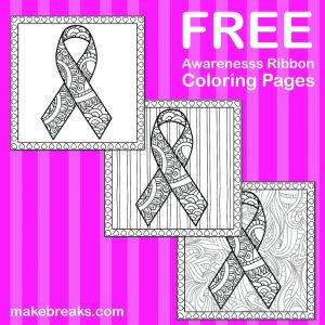 Free Awareness Ribbon Coloring Pages