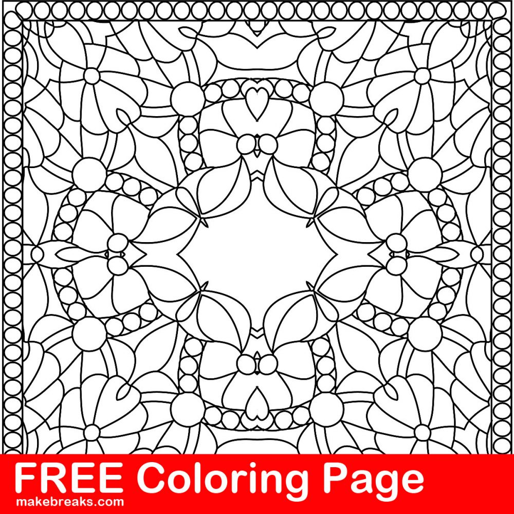 Free Coloring Page – Pattern Tile 4