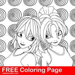 Free Coloring Page – Two Friends
