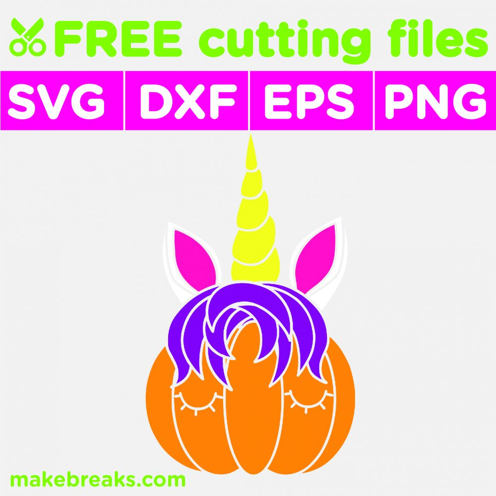 Free SVG Cutting File – Unicorn Pumpkin