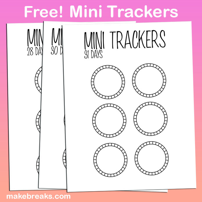 Free Bullet Journal Mini Trackers To Cut and Stick