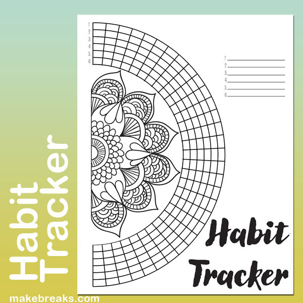 Undated Mandala Habit Tracker