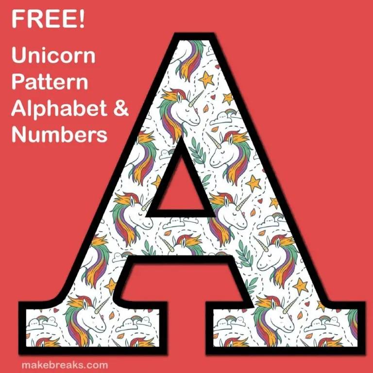 Unicorn alphabet 2