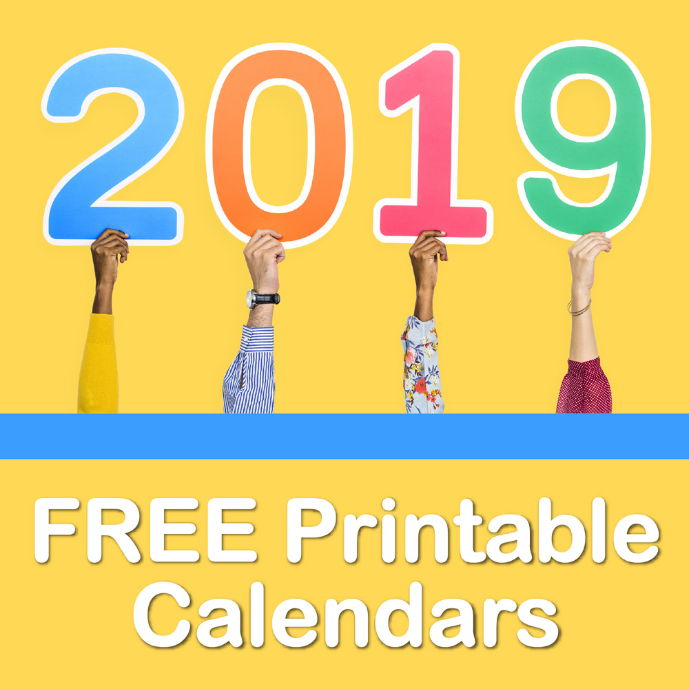 photograph relating to Www.printablecalendars.com � Www.freeprintable.net referred to as Totally free Printable 2019 Calendars - Create Breaks