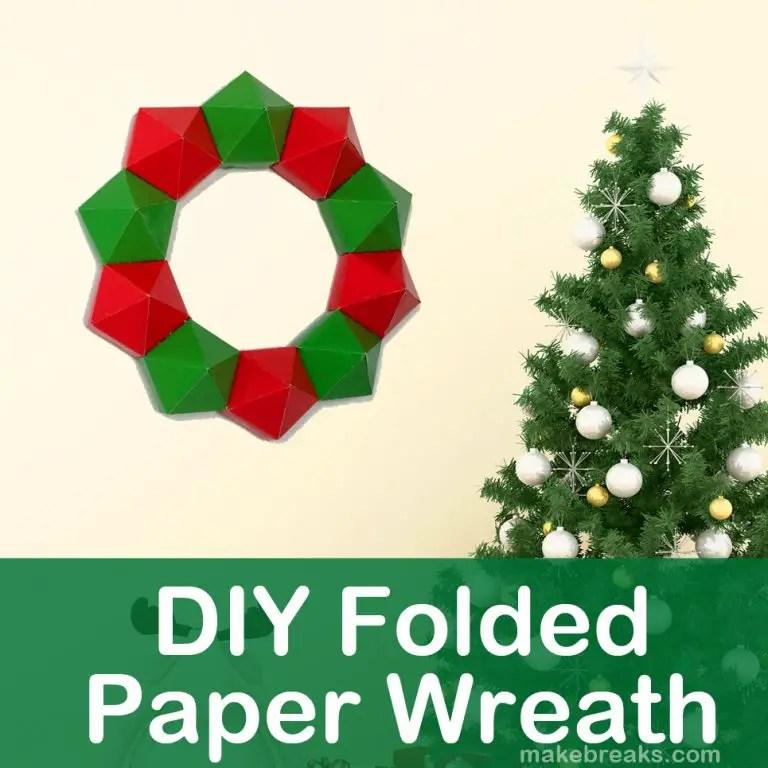 DIY Folded Paper Wreath