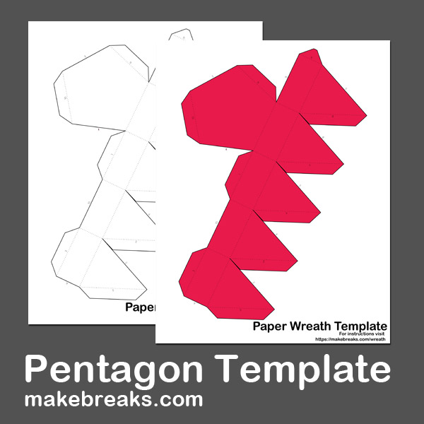 Free Pentagon Paper Model Template