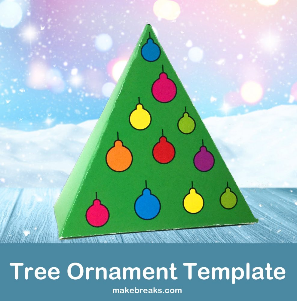 Tutorial: Make a DIY Folded Paper Christmas Tree Ornament (With Free Template)