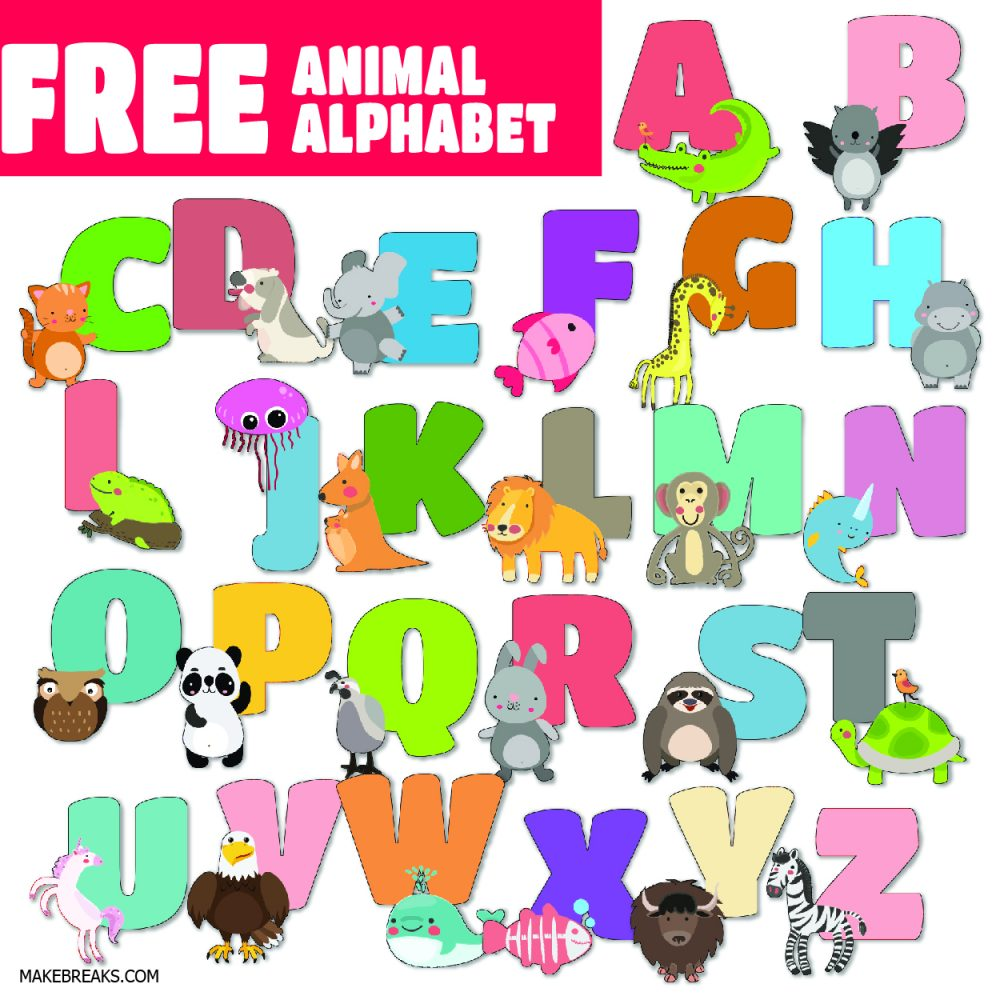 Free Illustrated Alphabet Letters – Animal Alphabet