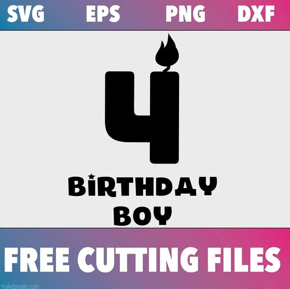 Free SVG Cutting File – Birthday Boy Candle 4