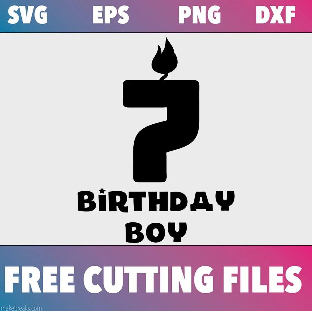 Free SVG Cutting File – Birthday Boy Candle 7