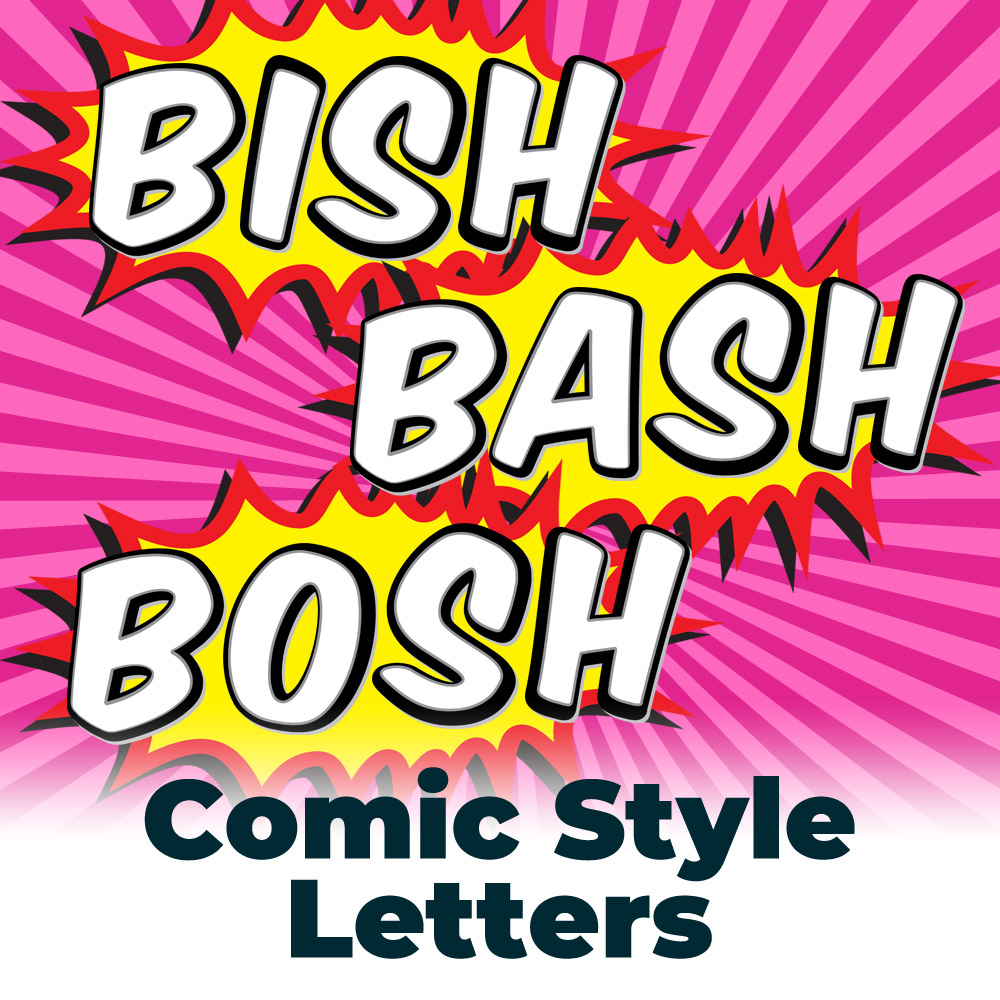 Free Mono Comic Book Style Letters