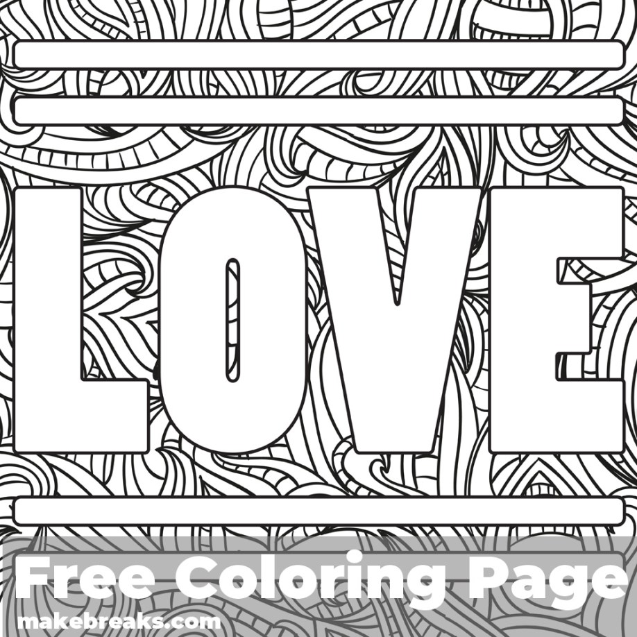 Love Coloring Page 1