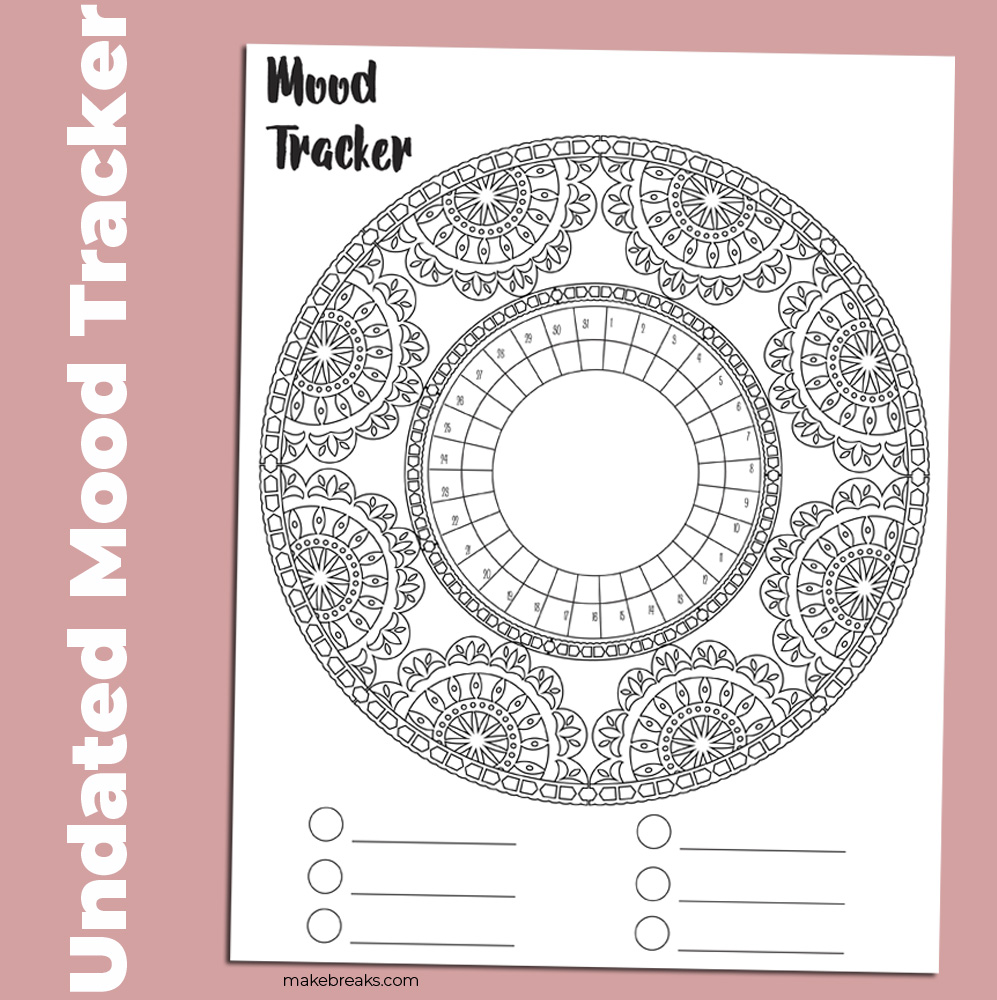 Undated Mood Tracker With Lace Frame 3