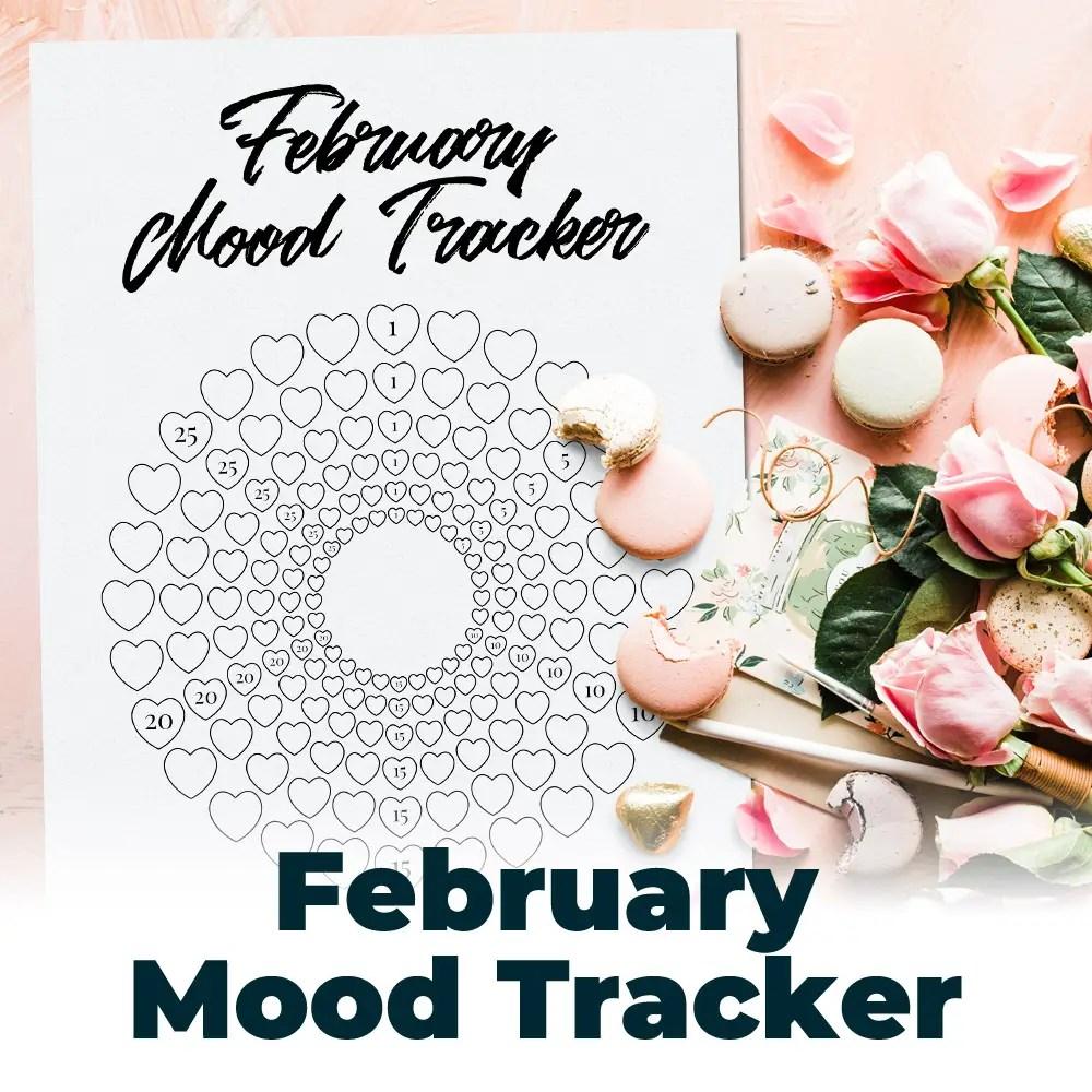 Free February Mood Tracker 1