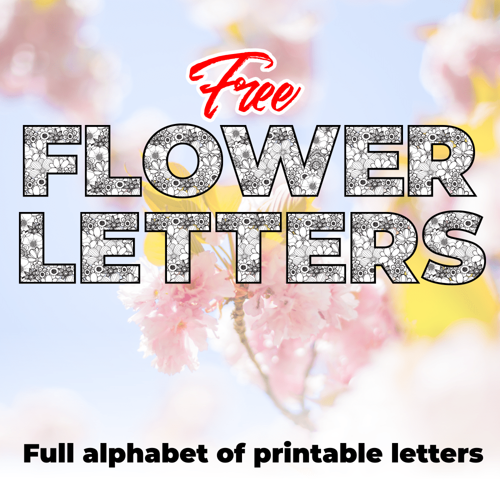 Free Printable Flower Pattern Letters
