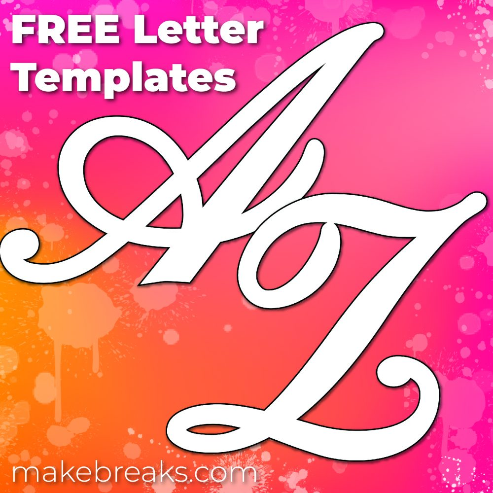 graphic relating to Free Printable Alphabet Templates referred to as Totally free Printable Superior Letters for Partitions Other Initiatives