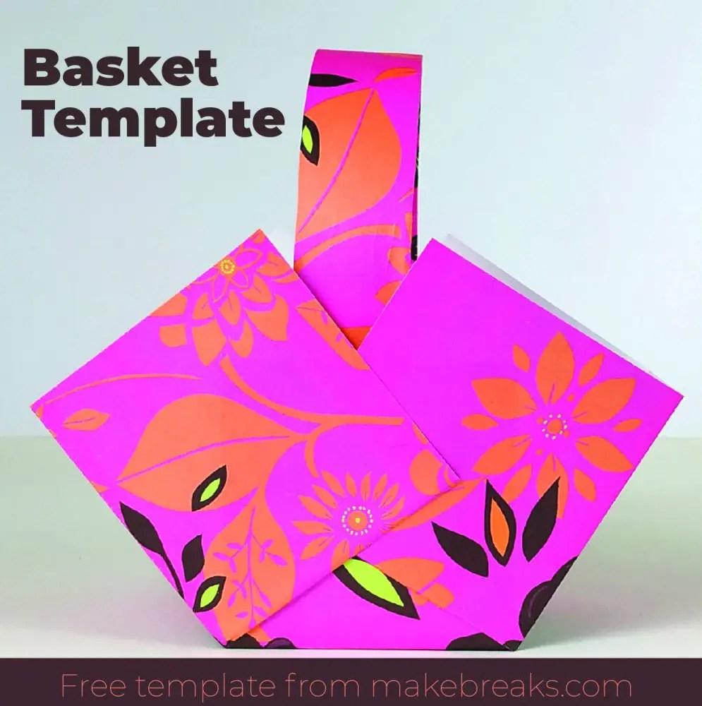 Free Easy Paper Basket Template – DIY Gift Packaging