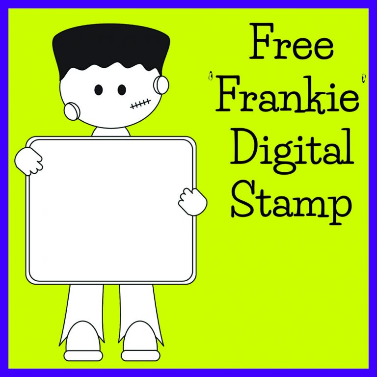 Frankenstein Kid Cute Digital Stamp