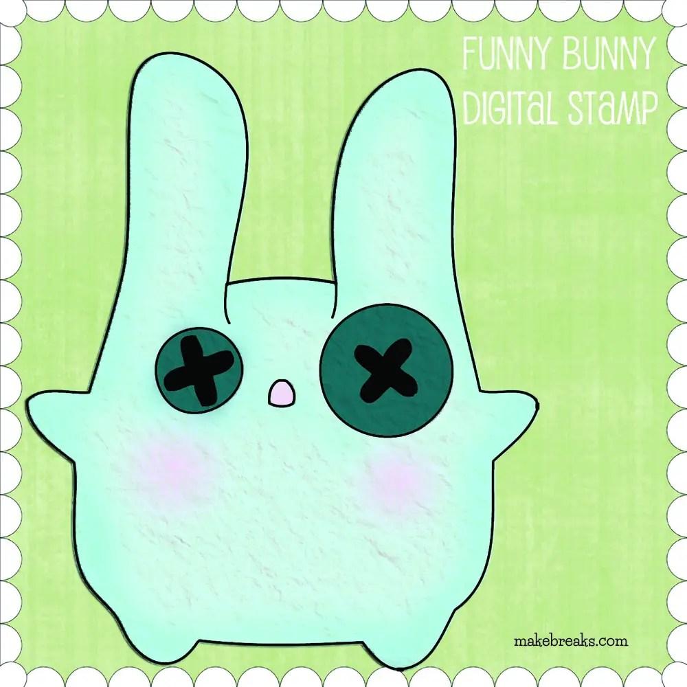 Free Digital Stamp – Funny Bunny