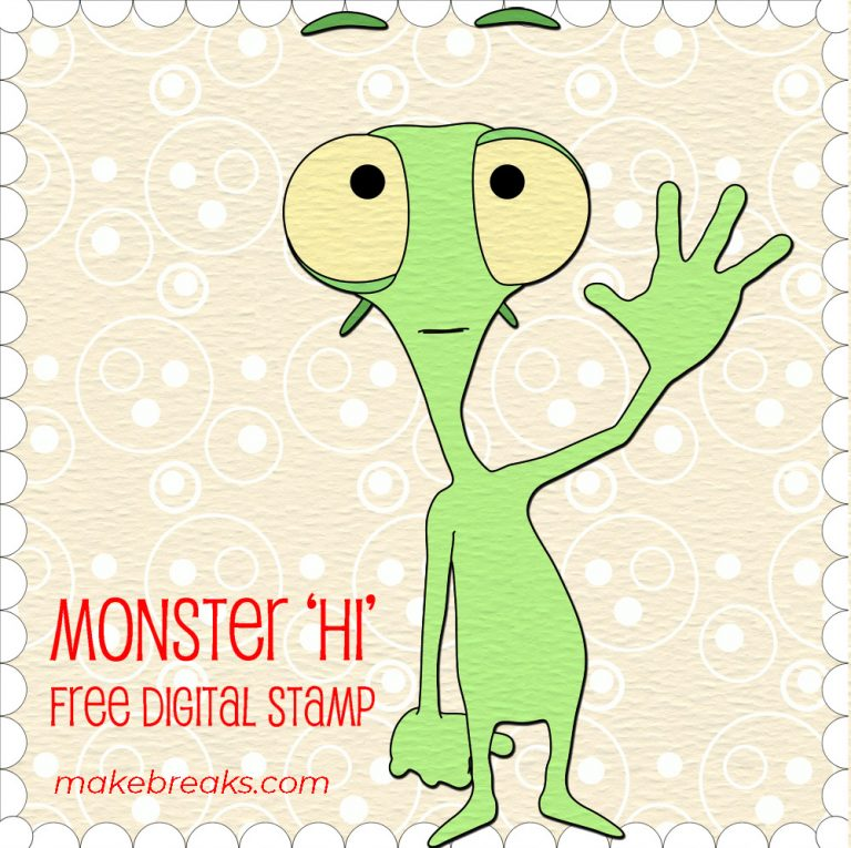 Monster Hi Digital Stamp