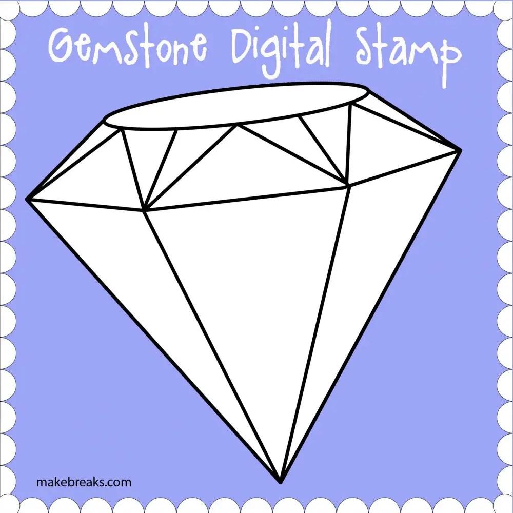 Free Digital Stamp – Gemstone