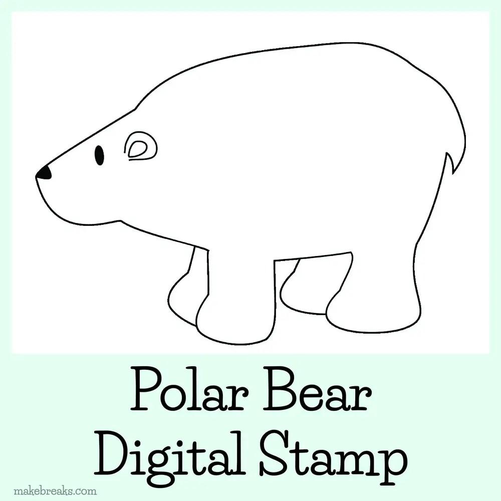 Free Digital Stamp – Polar Bear