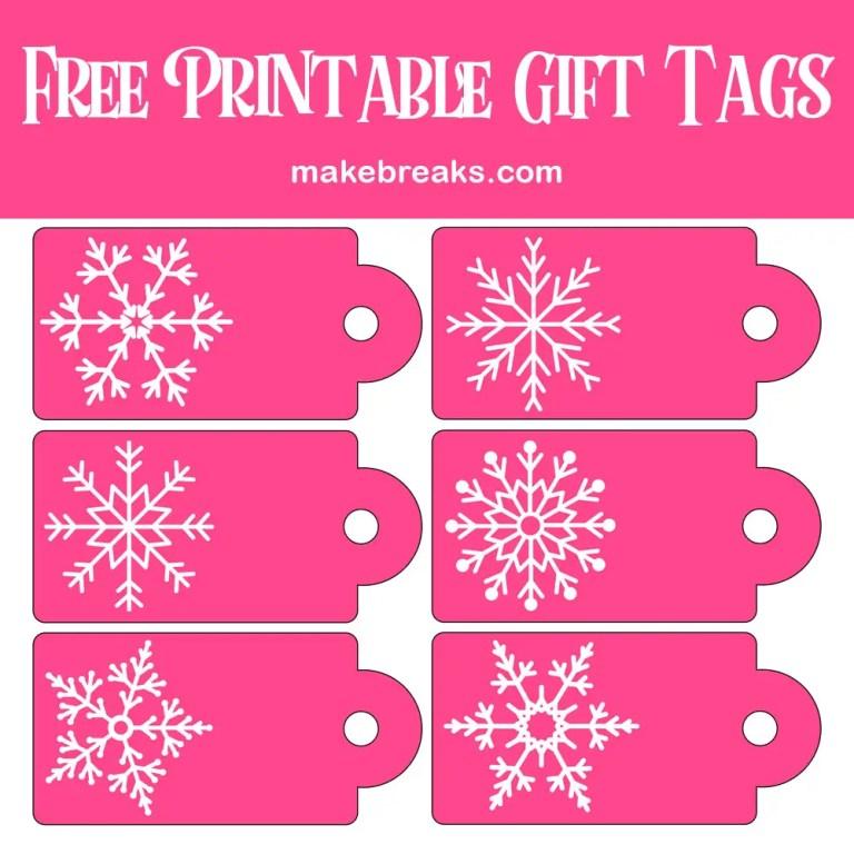 pink snowflake gift tagPIN