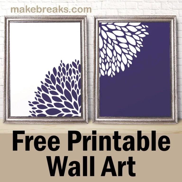 pv-purple flower wall art-01