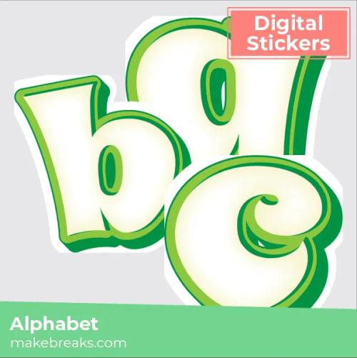 green-white alphabet-04