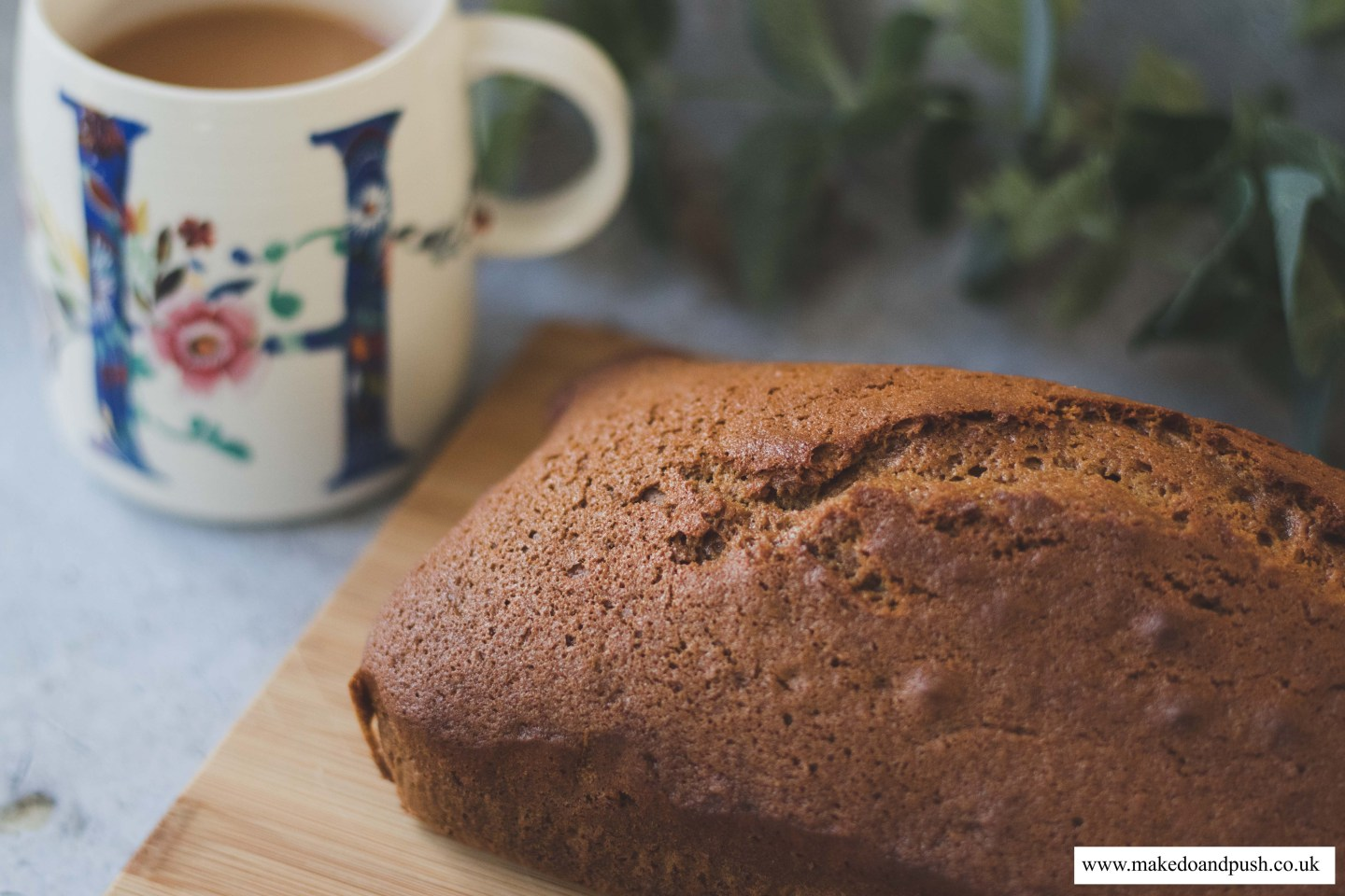dairy and soya free ginger loaf cake