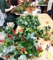 nearly finished those handmade wreaths