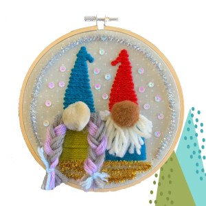 gnome embroidery kit
