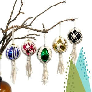 macrame ornament kit