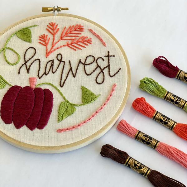 harvest embroidery kit