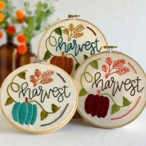 fall embroidery kit