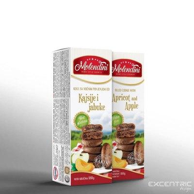KEKSI MOLENDINI MARELICA/JABOLKO 180 g