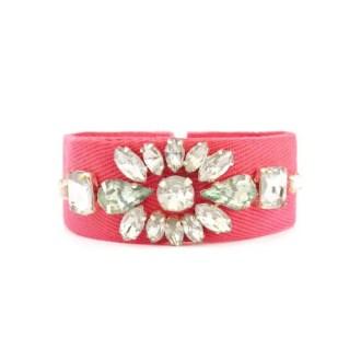 dónde comprar pulsera con cristales rosa