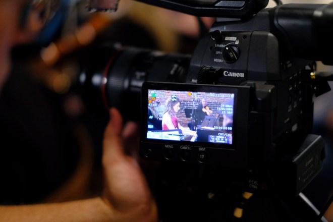 Filming Helen J Long