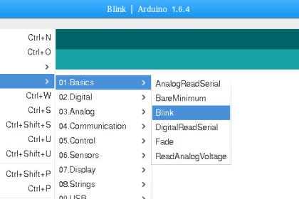 Примерен код за микроконтролер Arduino.